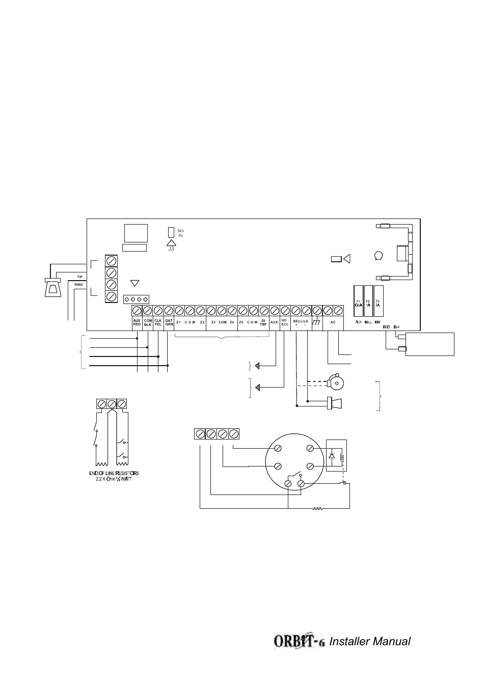 Orbit-6 wiring diagram figure 1a, Installer manual 32