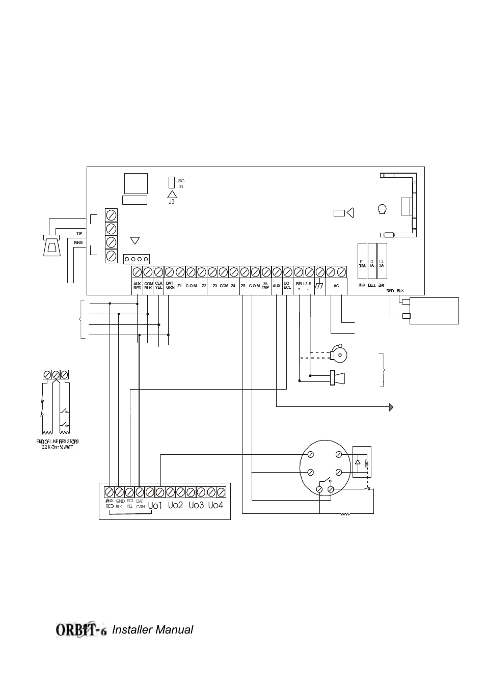 hight resolution of orbit 6 wiring diagram figure 1b installer manual 33 uo1 uo2 uo3 orbit 6