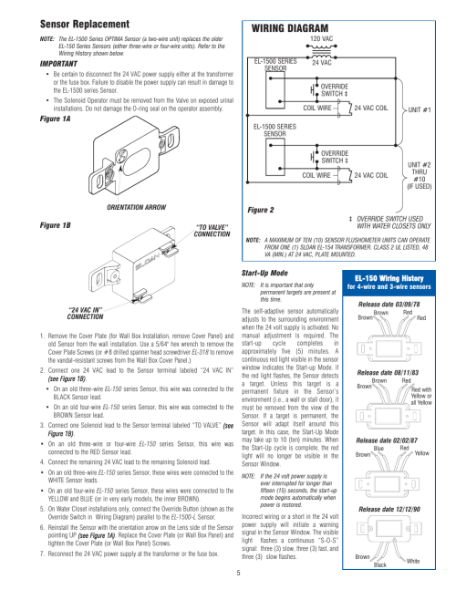 small resolution of sensor replacement wiring diagram optima company el 1500 user manual page 5 6