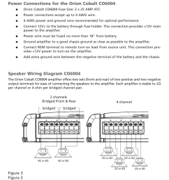 amplifier wiring high pass crossover power connections for the orion cobalt co6004 orion car audio co6004 user manual page 7 66 [ 954 x 1475 Pixel ]