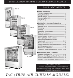 true manufacturing company tac 36 user manual 33 pages also for tac 72rc tac 30 [ 954 x 1235 Pixel ]