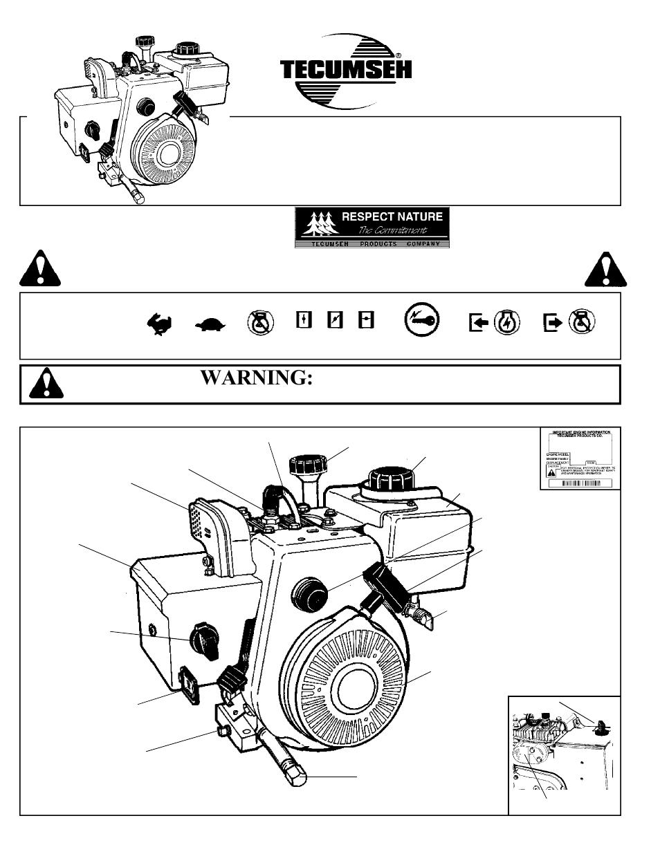 medium resolution of tecumseh vantage hsk35 user manual 8 pages also for hsk40 hssk50 hsk35 40
