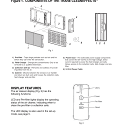 user s information figure 1 components of the trane cleaneffects display features trane cleaneffects air filtration system user manual page 2 8 [ 954 x 1235 Pixel ]