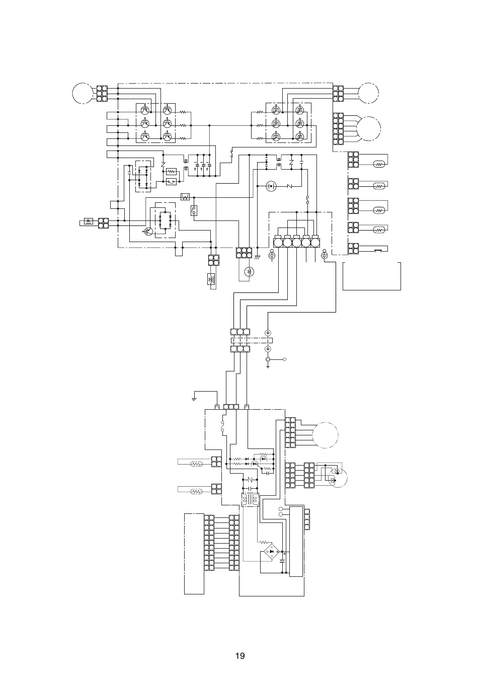 Wiring diagram, Fm pmv, Power supply circuit main pc board