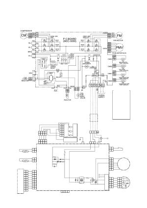 Wiring diagram, 1 outdoor unit, 2 indoor unit | Toshiba