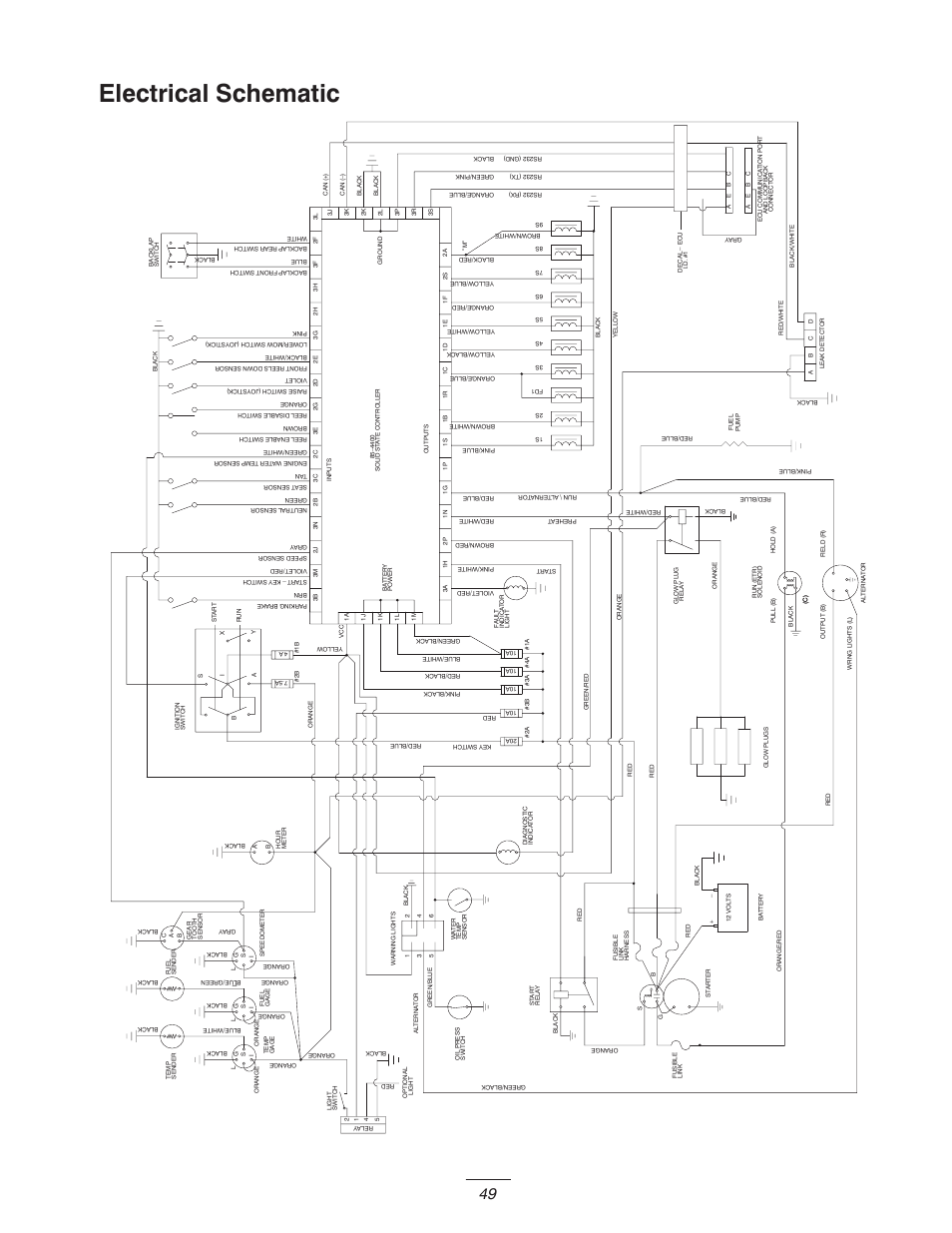 hight resolution of electrical schematic toro 5400 d user manual page 49 52