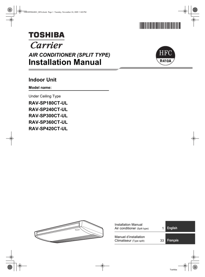 Carrier Split Type Aircon Installation Manual