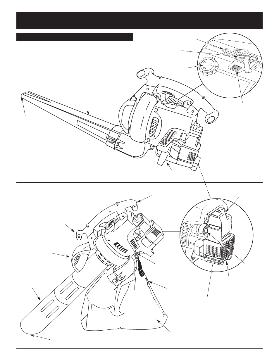 Rules for safe operation, Assembled as a blower assembled