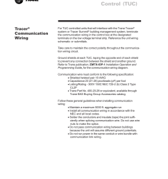 tracer communication wiring terminal unit control tuc tracer trane lo user manual page 88 136 [ 954 x 1235 Pixel ]