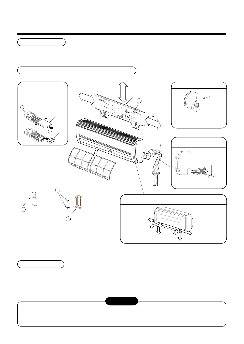 hight resolution of caution installation space installation diagram of indoor and outdoor units toshiba mmk ap0092h user manual page 7 29