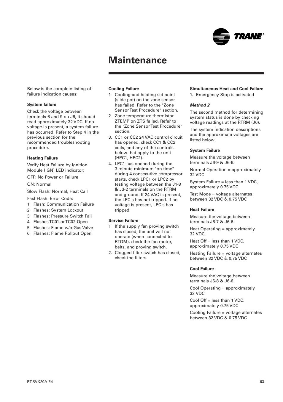Trane Voyager Troubleshooting Manual