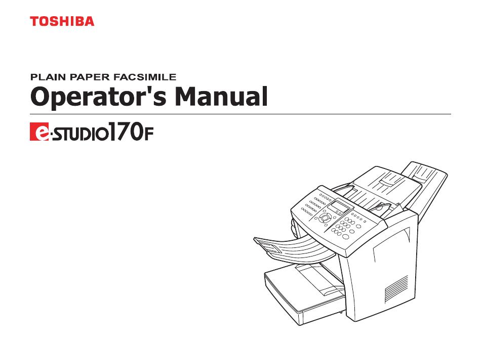 E-STUDIO 170F MANUAL PDF