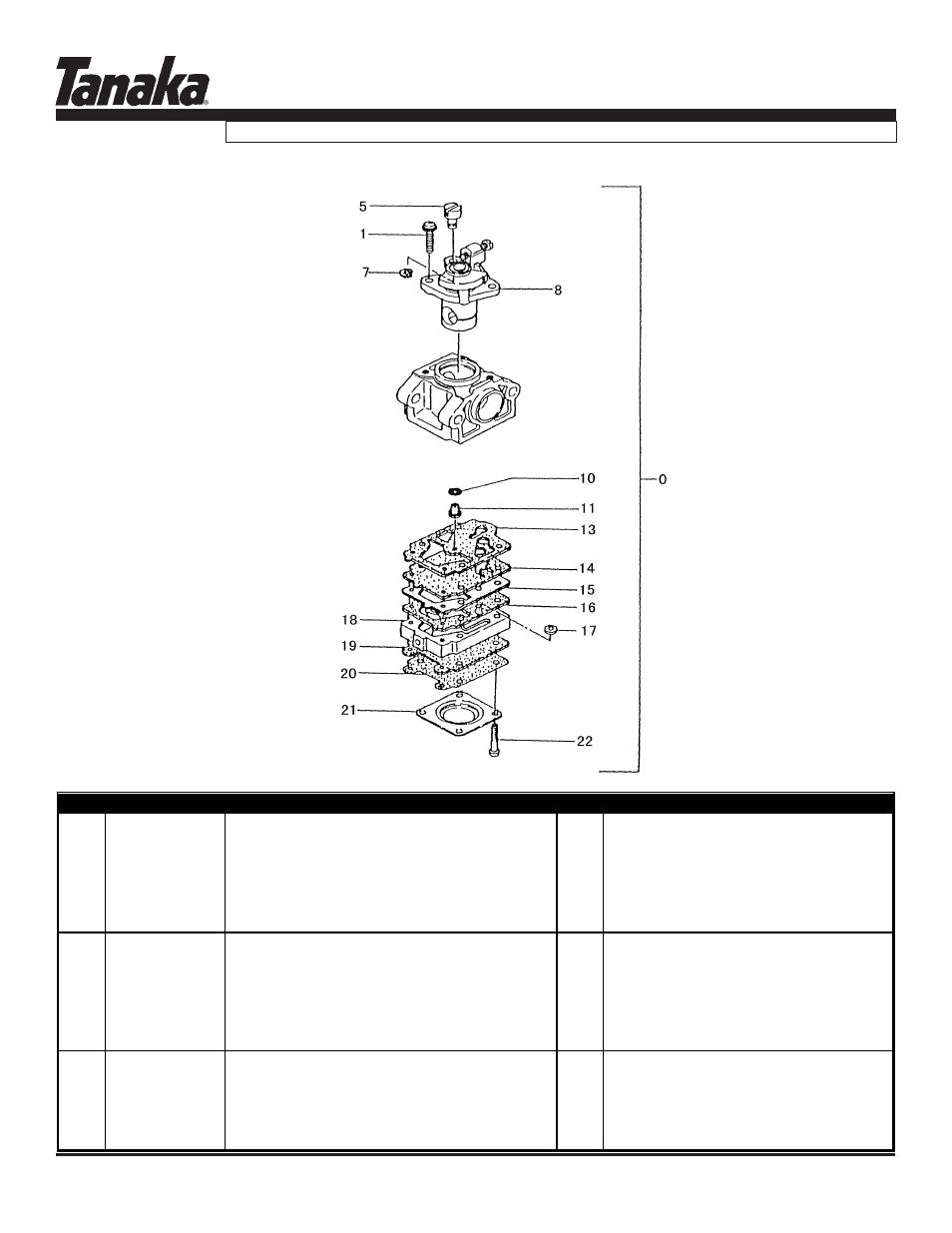 Carburetor (before s/n ~r233951), Tht-2120, Parts
