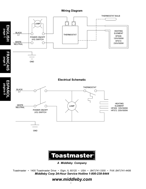 small resolution of toastmaster wiring diagram wiring diagram forward toastmaster wiring diagram