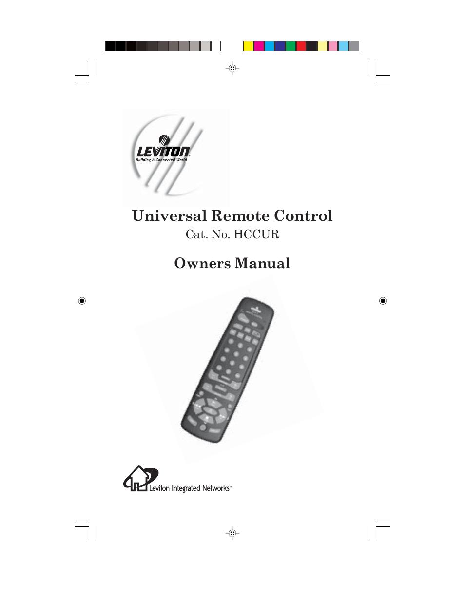 Universal Remote Control (URS) Remote control HCCUR User