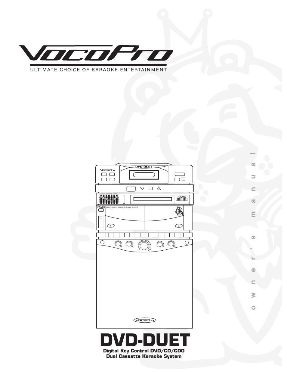 VocoPro DVD-Duet Multi Format Digital Karaoke System 5