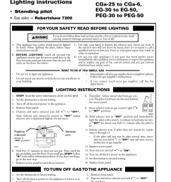 lighting instructions gas valve robertshaw 7200 standing pilot weil mclain cgs user manual page 14 24 [ 954 x 1235 Pixel ]