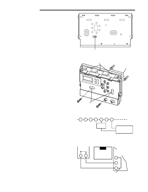 small resolution of installation remove old thermostat attach thermostat base to wall white rodgers 1f86 444 user manual page 2 4