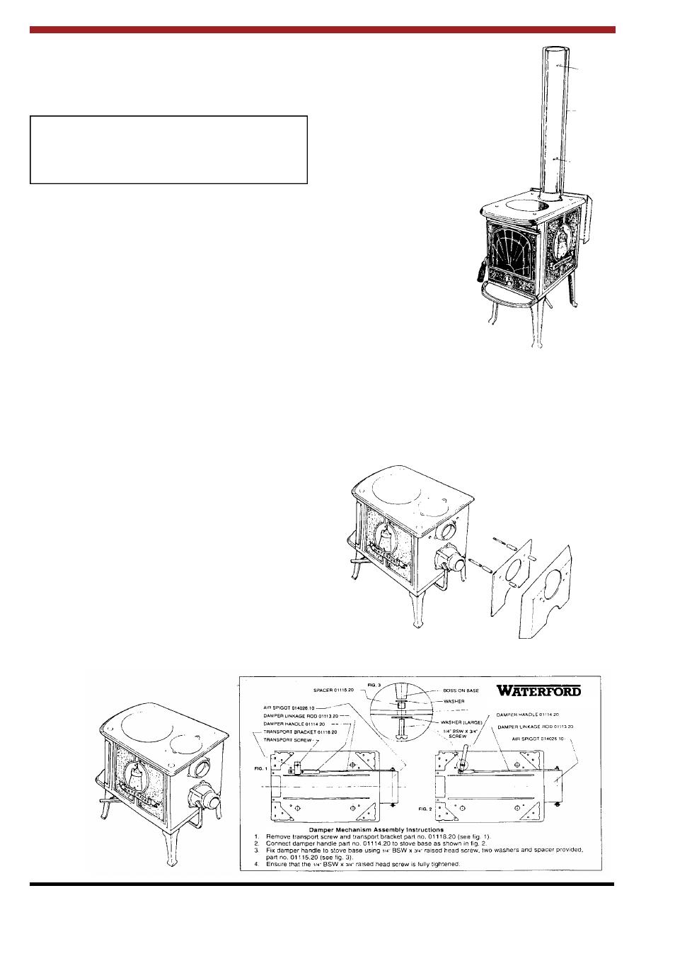 Waterford Appliances LEPRECHAUN 90 O.S.A User Manual