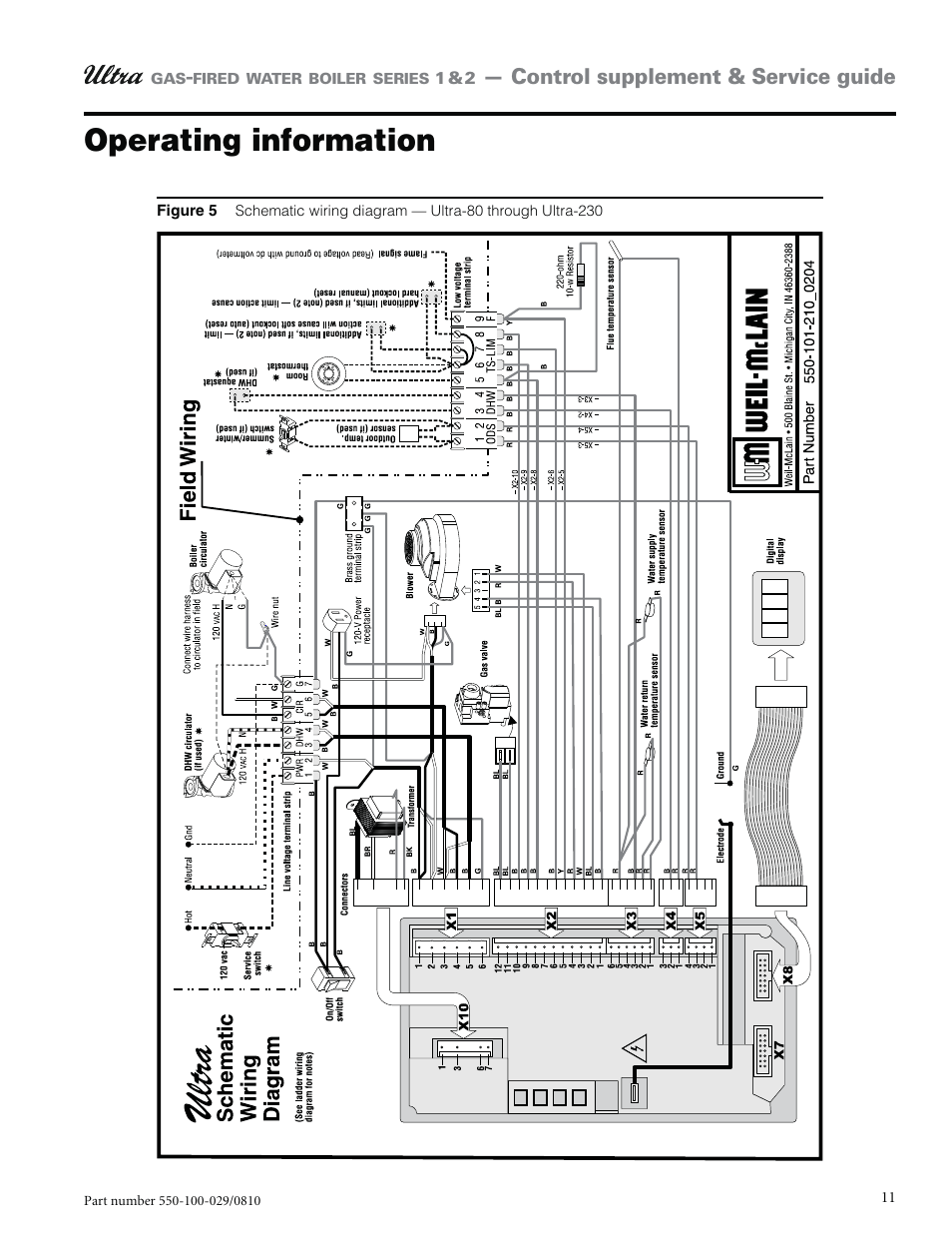 hight resolution of operating information weil mclain ultra 230 user manual page 11 60weil mclain wiring diagram 5