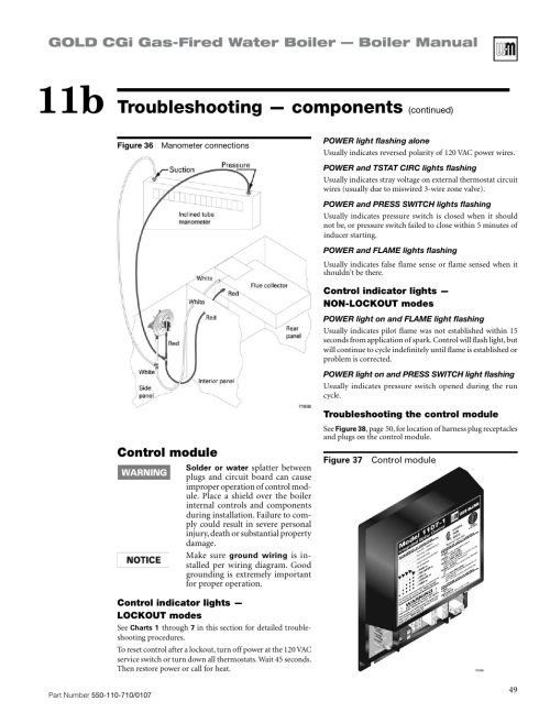 small resolution of troubleshooting components gold cgi gas fired water boiler boiler manual control module weil mclain gold cgi series 2 user manual page 49 68