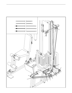 Cable diagrams | Weider PRO POWER STACK 831159831 User