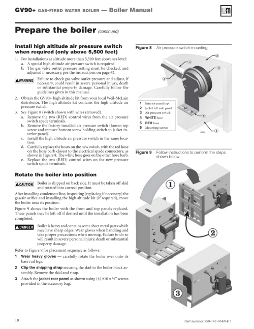 small resolution of prepare the boiler gv90 boiler manual weil mclain gv90 user manual