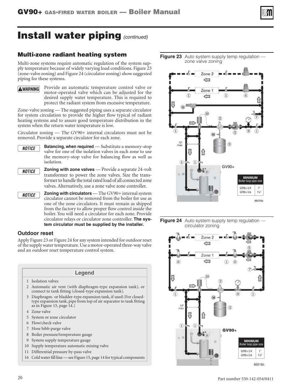 medium resolution of install water piping gv90 boiler manual weil mclain gv90 user weil mclain piping diagrams