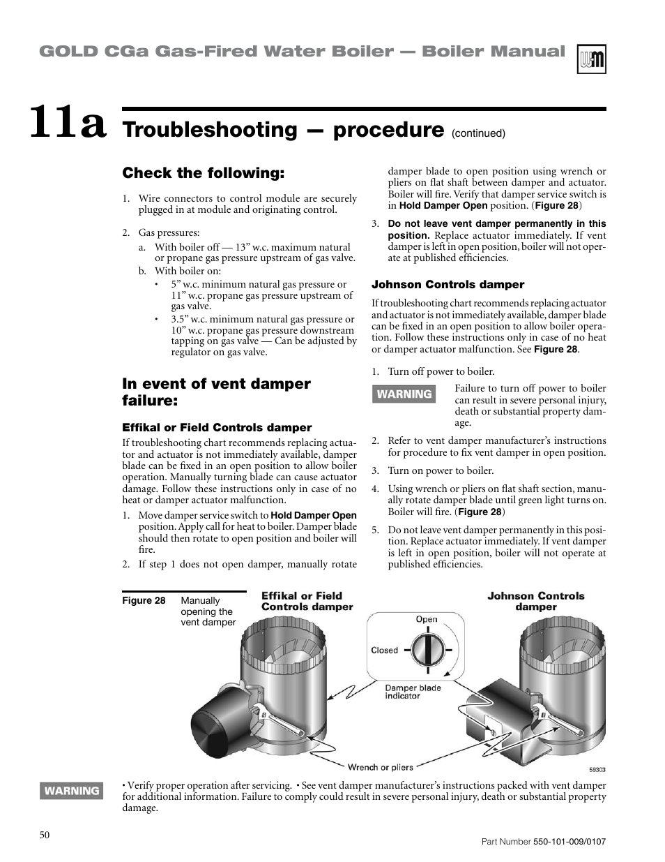 medium resolution of troubleshooting procedure gold cga gas fired water boiler boiler manual check the following weil mclain gold cga user manual page 50 68