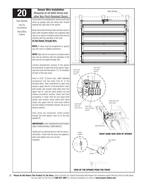 small resolution of sensor wire installation wayne dalton idrive pro 3790 z user manual page 32 52