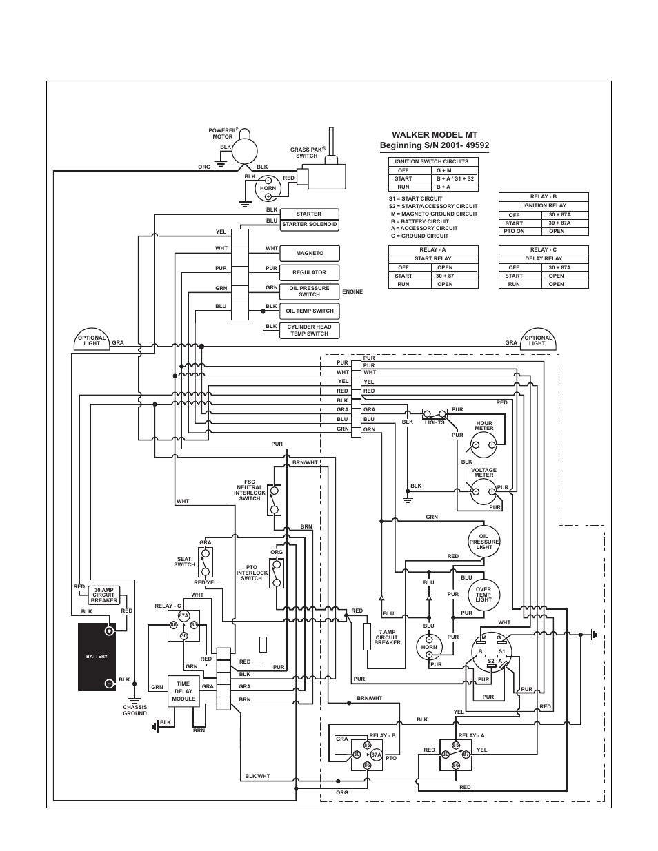 walker wiring diagram
