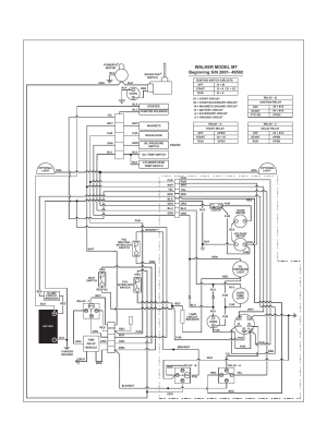 Wiring diagram  model mt, Maintenance instructions, Electrical system | Walker MT User Manual