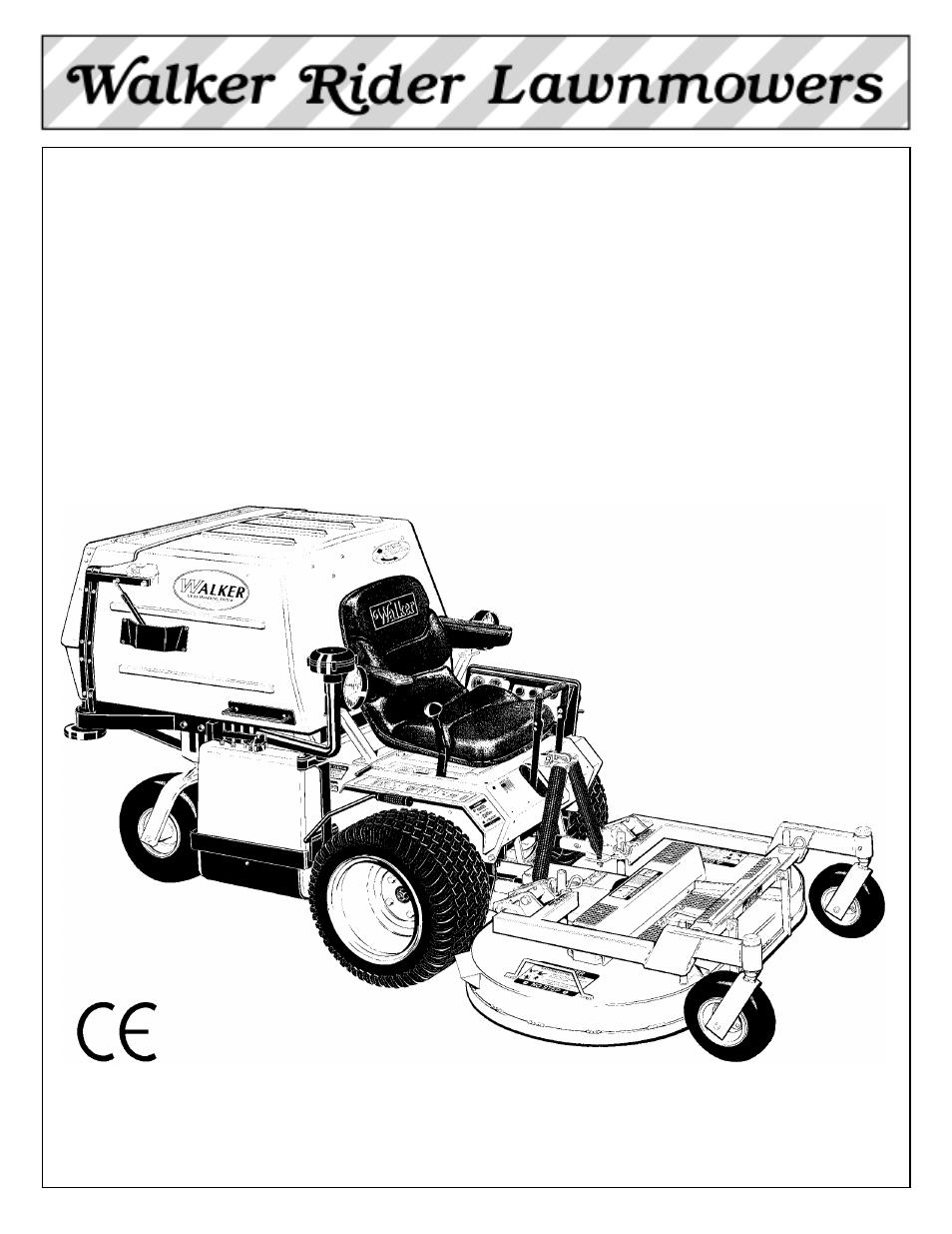 walker riding mower wiring diagram