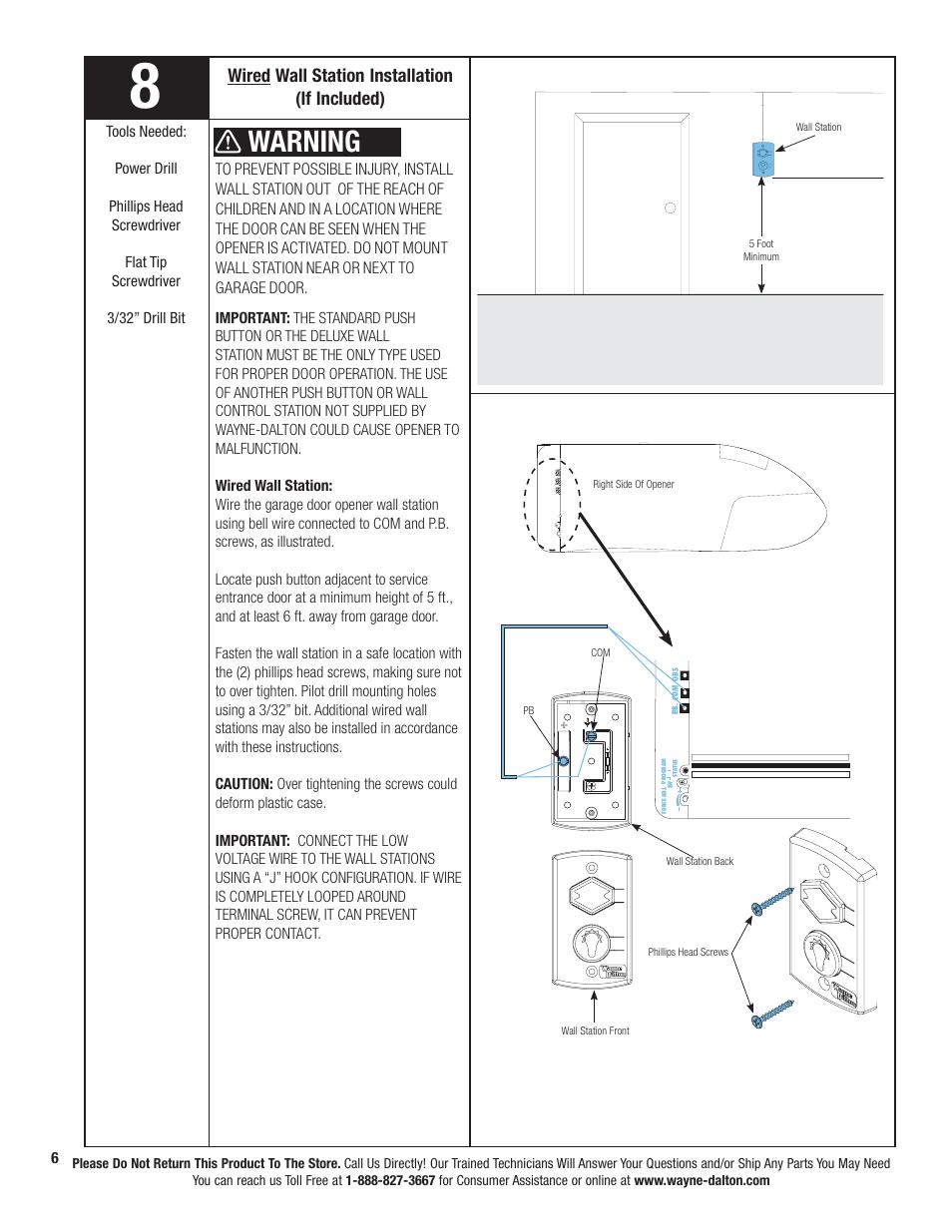 medium resolution of wiring diagram for wall mount garage door wiring diagram datasource warning wired wall station installation