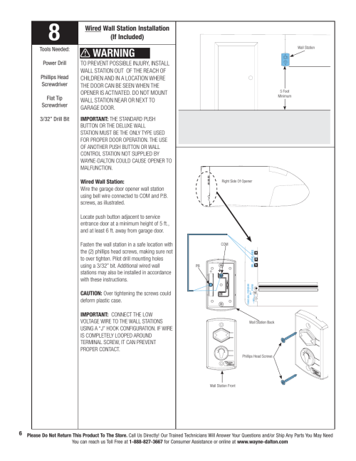 small resolution of wiring diagram for wall mount garage door wiring diagram datasource warning wired wall station installation