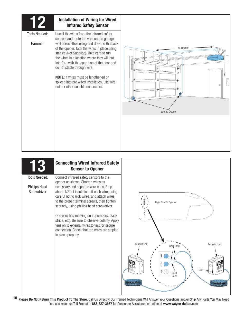 medium resolution of wayne dalton prodrive 3222c z user manual page 16 48 also for wayne dalton idrive wiring diagram wayne dalton wiring diagram