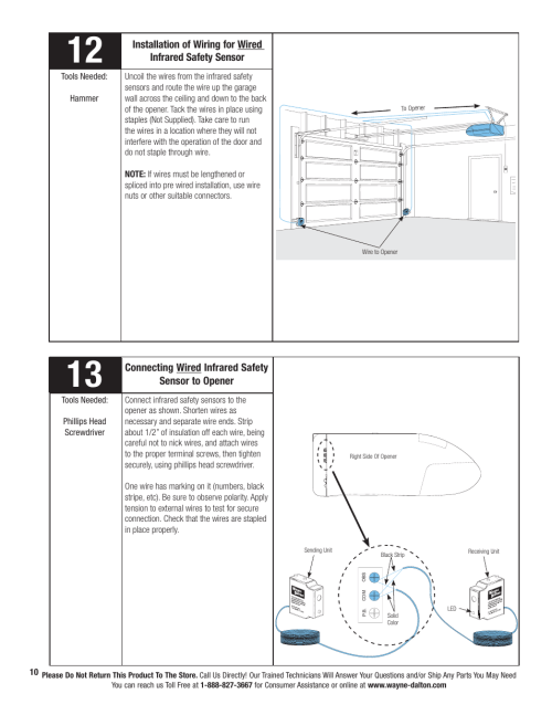 small resolution of wayne dalton prodrive 3222c z user manual page 16 48 also for wayne dalton idrive wiring diagram wayne dalton wiring diagram