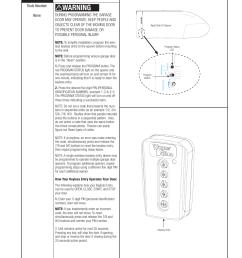 warning programming wireless keyless entry if included wayne dalton prodrive 3222c z user manual page 24 48 [ 954 x 1235 Pixel ]
