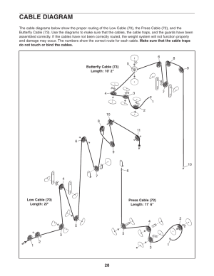 Cable diagram | Weider club 4870 WESY39060 User Manual