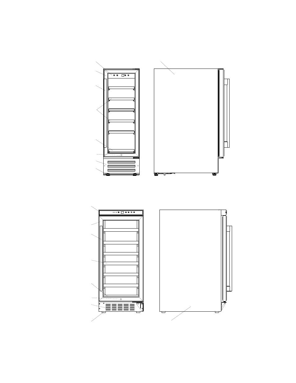 Parts & features, Model bwr-18sd 18 bottle wine
