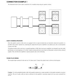 connecting the speakers connection example 1 yamaha s115iva oak user manual page [ 954 x 1235 Pixel ]