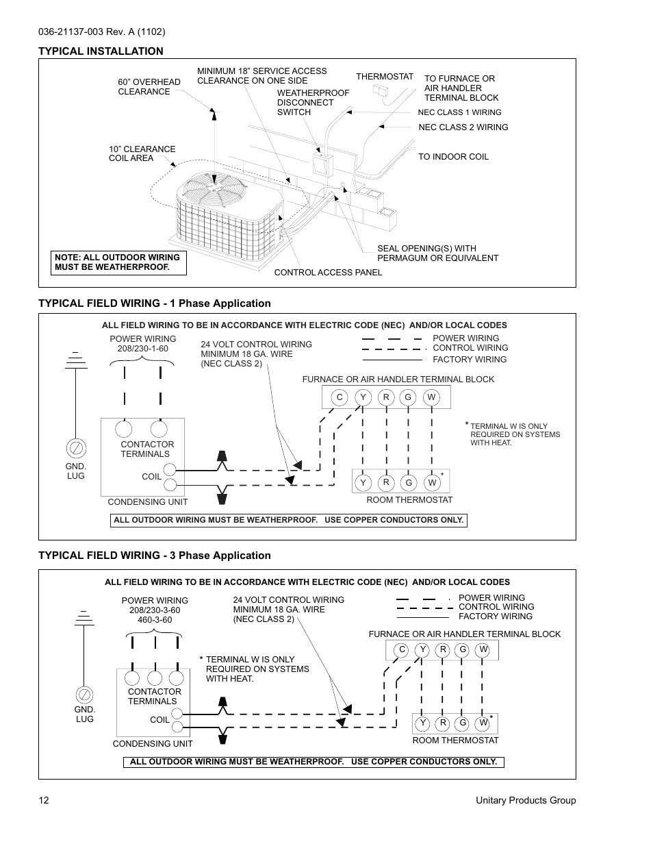 hight resolution of york h rc018 thru 060 user manual page 12 24
