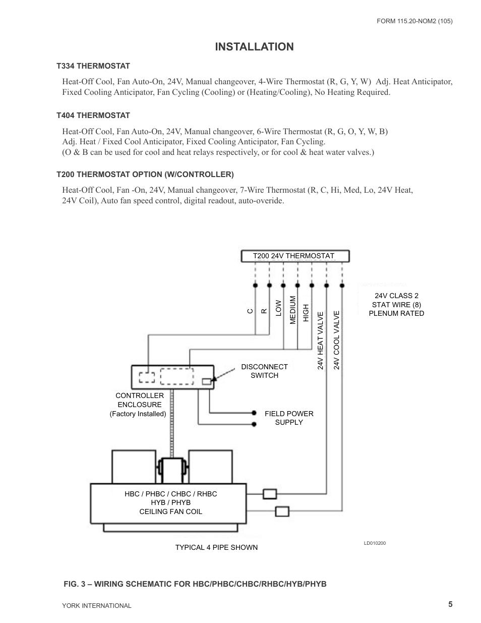 medium resolution of  surge protector wiring diagram installation york yhyb user manual page 5 16 on circuit breaker wiring diagram