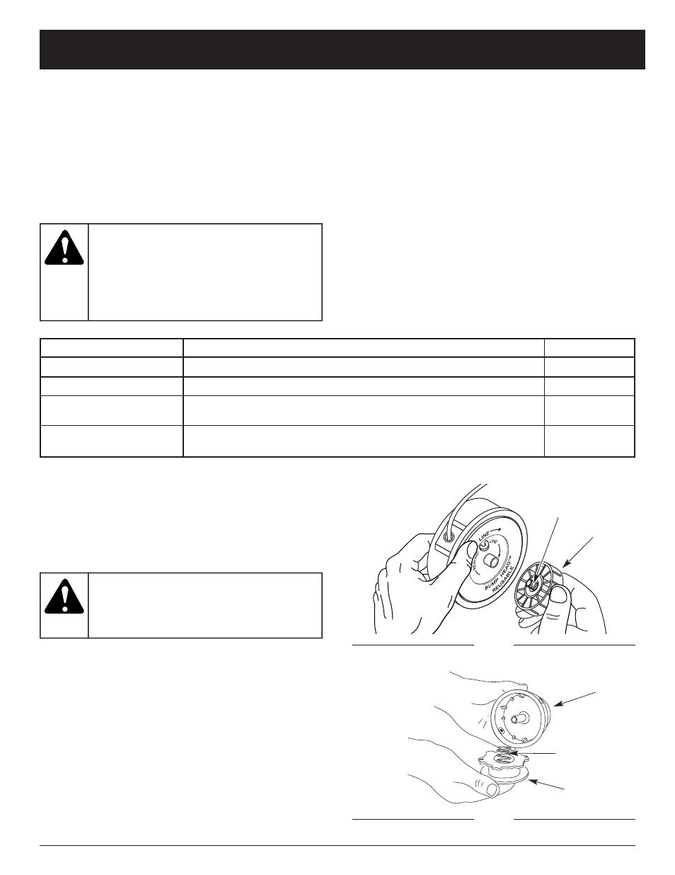 Advertencia, Instrucciones de mantenimiento y reparación
