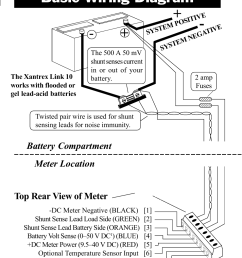 basic wiring diagram top rear view of meter battery compartment xantrex technology link [ 954 x 1235 Pixel ]