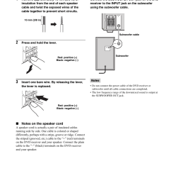 connecting speakers connecting a subwoofer yamaha rdx e700 user manual page 10 57 [ 954 x 1348 Pixel ]