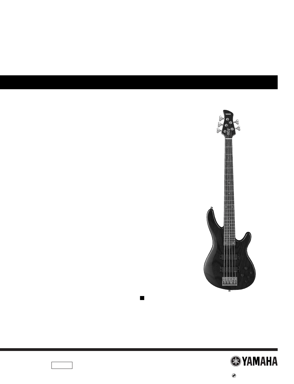hight resolution of yamaha electric bass trb 5ii user manual 8 pages also for electric bass trb 5iif