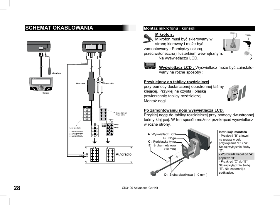 Parrot ck3100 installation manual pdf