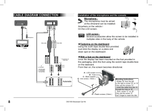 Cable diagram connection | Parrot CK3100 User Manual | Page 8  48