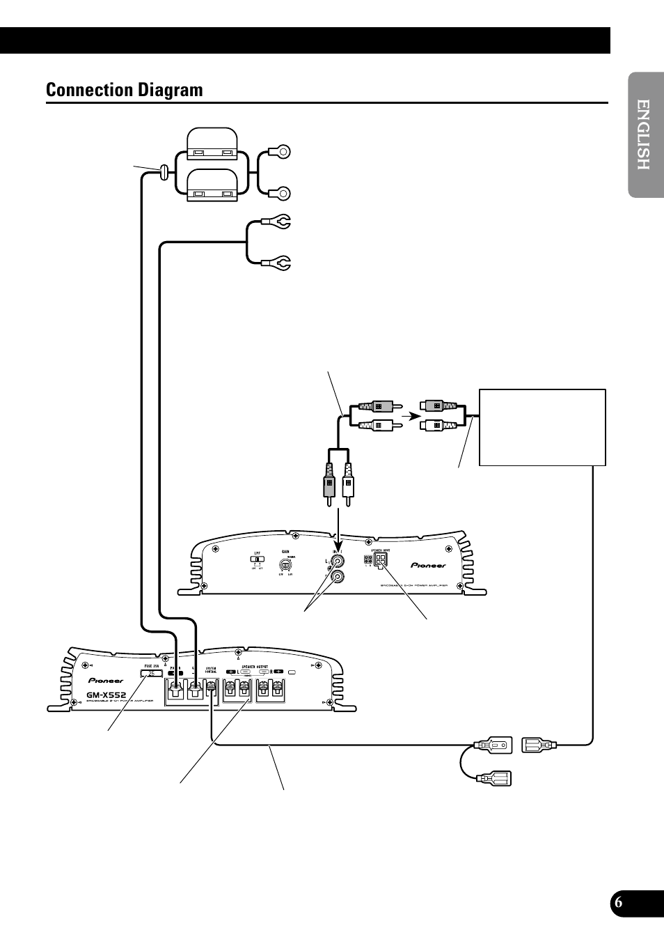pioneer wiring remote typical vfd diagram connection gm x552 user manual page 7 76